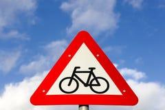 Bike lane traffic sign Royalty Free Stock Photos