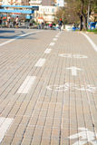 Bike lane under the sun Royalty Free Stock Photography