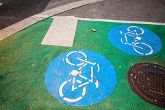 Bike lane in Vienna. Austria Stock Image