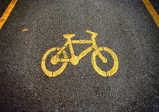 Bike lanes, Bicycle symbol Royalty Free Stock Photo