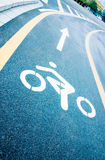 Bike lanes on the road Royalty Free Stock Images