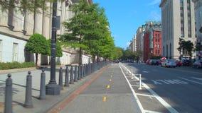 BIke lanes in Washington DC stock video