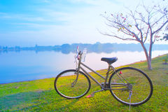 bike for life , bicycle in the morning Royalty Free Stock Photography