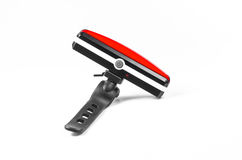 bike light,bicycle tail lamb isolated on white background,bicycle rear light royalty free stock photo