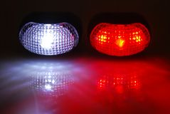 Bike lights Royalty Free Stock Images