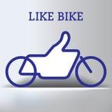 Bike Like Thumbs Up Graphic Stock Photography