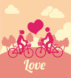 Bike love design Royalty Free Stock Photo