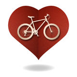 Bike love heart paper cut Stock Image