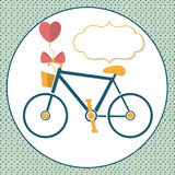 Bike for Love. And walks Royalty Free Stock Images