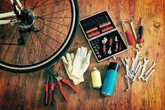 Bike maintenance Stock Photos