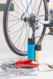 Bike maintenance Royalty Free Stock Photos