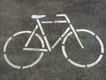 Bike mark. Signs on road Stock Photography