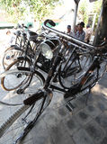 Bike market. Merchants offer a bicycle in the bicycle market in Boyolali, Central Java, Indonesia Stock Photos