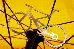 When bike meets wheel Stock Photos
