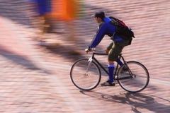 Bike messenger stock images