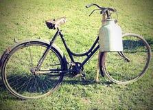 Bike milkman with bin for transporting milk. Ancient bike of milkman with bin for transporting milk Royalty Free Stock Photos