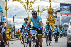 Bike for Mom activity in Chiang Rai, Thailand Royalty Free Stock Photos