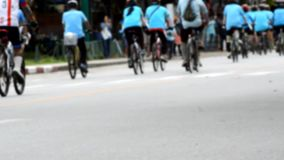 Bike for Mom activity in Chiang Rai, Thailand stock footage
