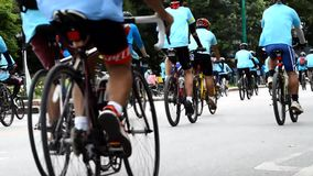 Bike for Mom activity in Chiang Rai, Thailand stock video footage