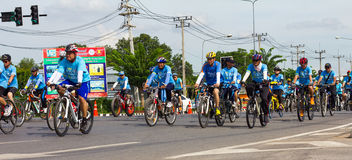 Bike for mom in Thailand. Royalty Free Stock Photos
