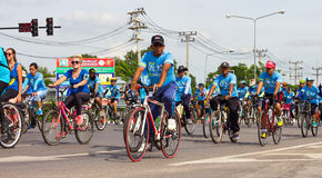 Bike for mom in Thailand. Royalty Free Stock Photo