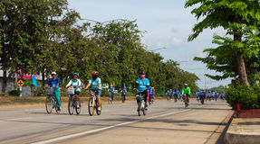 Bike for mom in Thailand. Royalty Free Stock Images