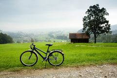 Bike in montains Royalty Free Stock Photo