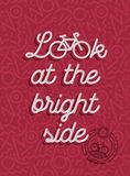 Bike motivation positive bicycle retro outline stock photos