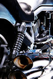 Bike Motor. Powerful Bike motor of an old Chopper Royalty Free Stock Photos