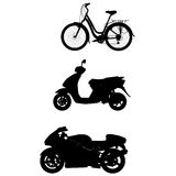 Bike motor moped Royalty Free Stock Images