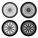 Bike motorbike wheels black silhouette Royalty Free Stock Images