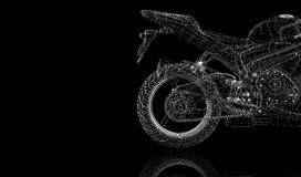 Bike, motorcycle,  3D model Royalty Free Stock Images