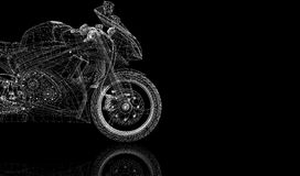 Bike, motorcycle,  3D model Stock Photo