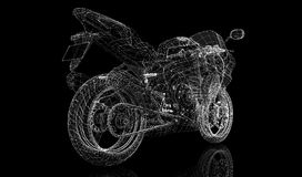 Bike, motorcycle,  3D model Royalty Free Stock Photos