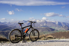 Bike. Mountain view on a clear day Royalty Free Stock Photo
