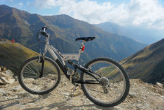 Bike on mountains Stock Images