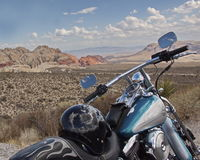 Bike and nature and fun. Biking in red rock canyon, near Las Vegas stock photography