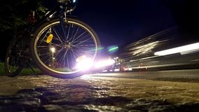 Bike in the night Royalty Free Stock Image