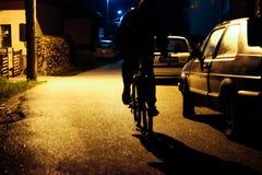 Bike night shadow Stock Photo