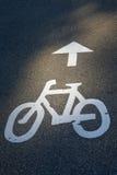 Bike o trajeto foto de stock