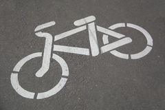 Bike o trajeto imagens de stock