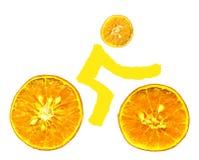 Bike oranges stock photography