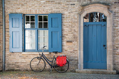 Bike outside House stock images