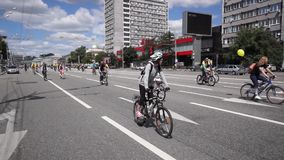 Bike Parade stock footage