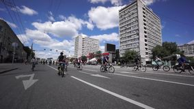 Bike Parade stock video footage