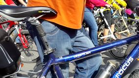 Bike Parade 2015 September stock video footage