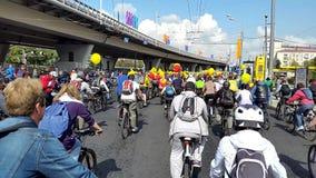 Bike Parade 2015 September stock video