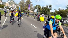 Bike Parade 2015 September stock footage