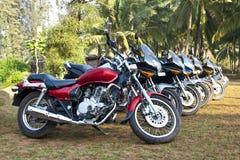 Bike park at a india holiday resort royalty free stock photos