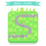 Bike Park top view, vector Royalty Free Stock Photo